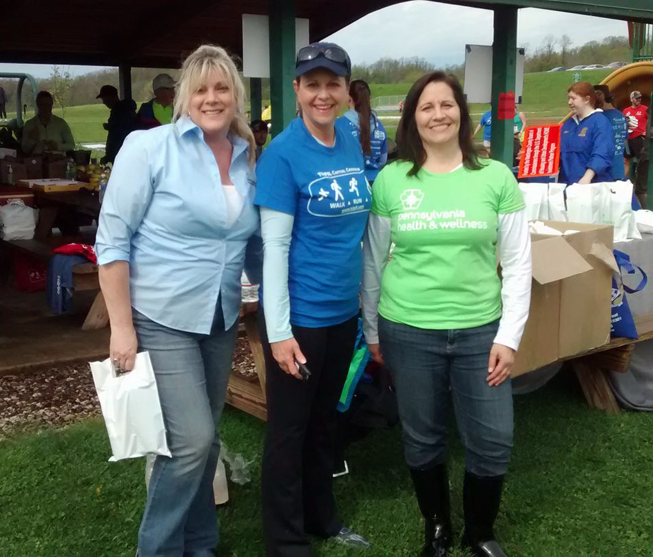 Senator Bartolotta and our water station volunteers