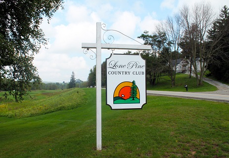 Lone Pine Country Club sign