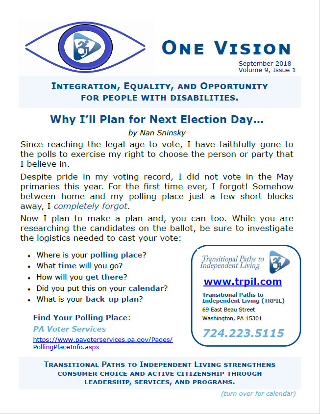 One Vision Newsletter Example Cover