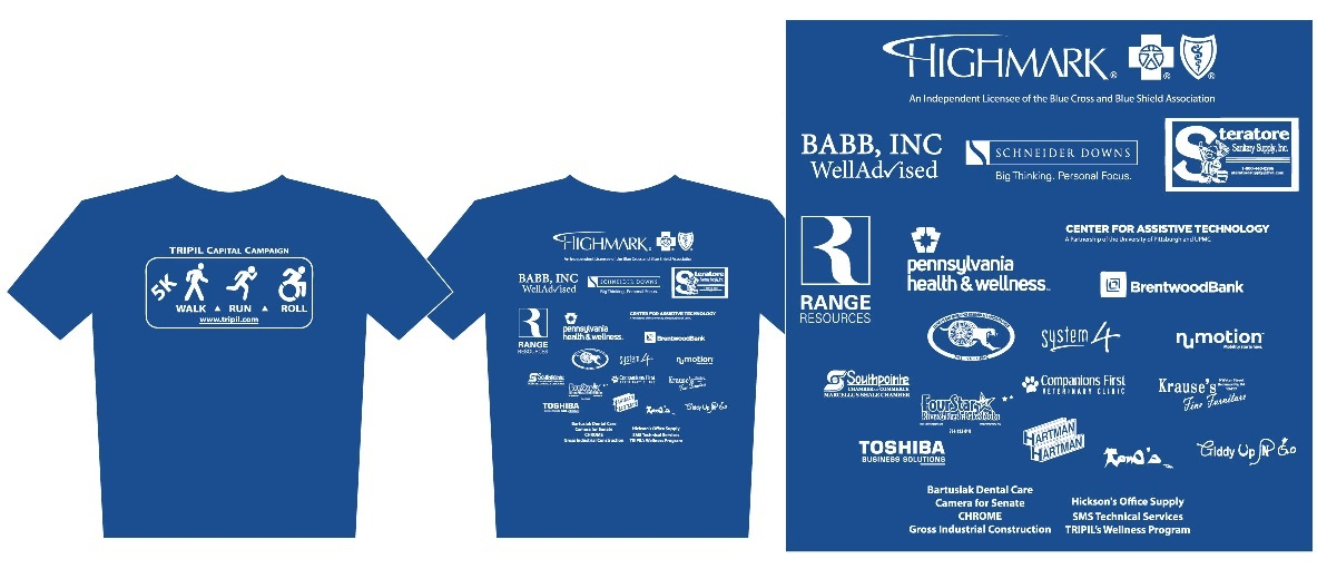 TRPIL Walk Run Roll 2017 shirt