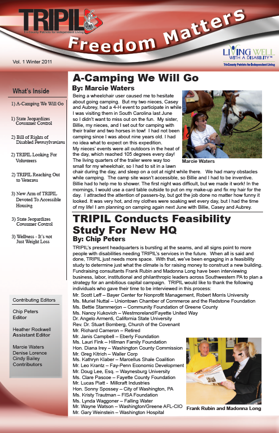 Freedom Matters Newsletter Example Cover