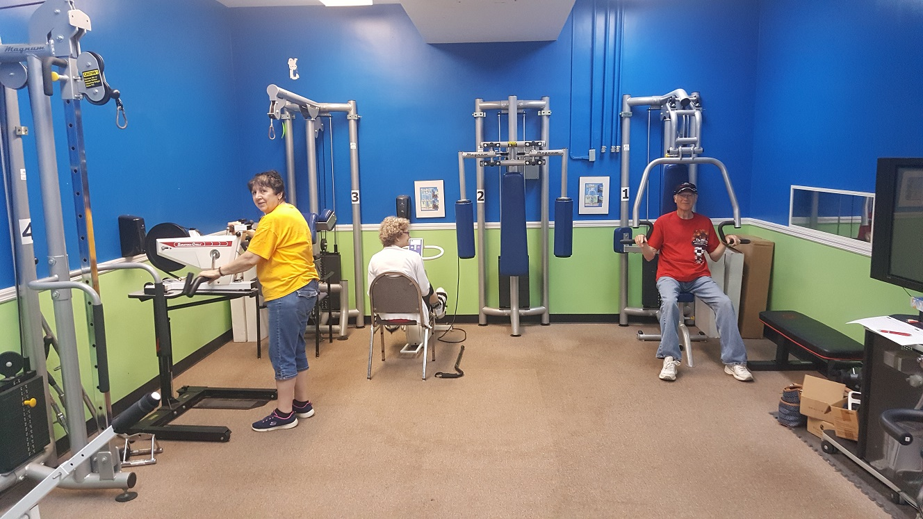 Consumers exercising the TRIPIL Gym